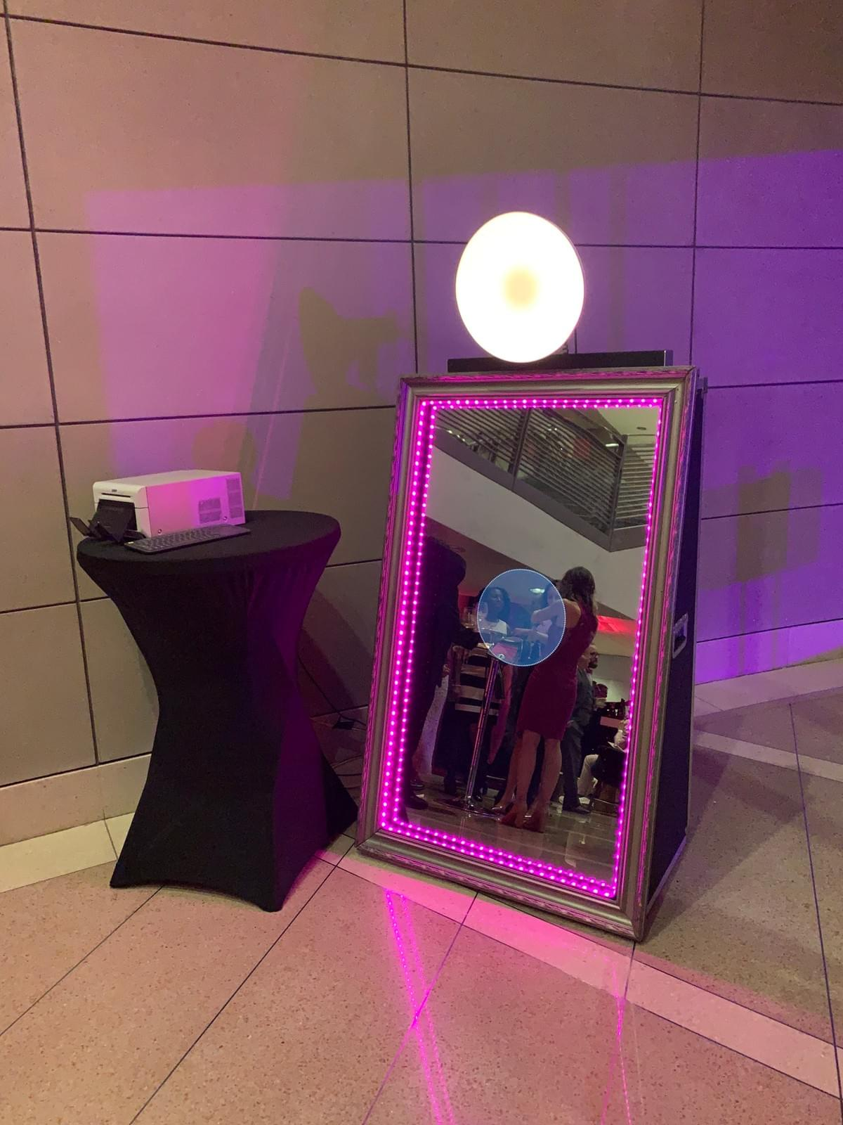 The Magic Selfie Mirror at the Pink Tie Party