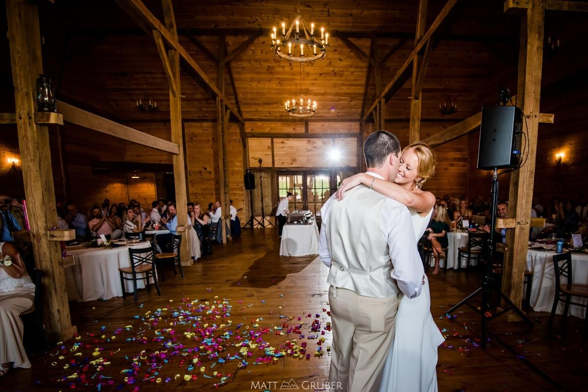 Stone Ridge Hollow, Barn Venue in Forest Hill. Interior pic. courtesy of Matt Gruber photography.