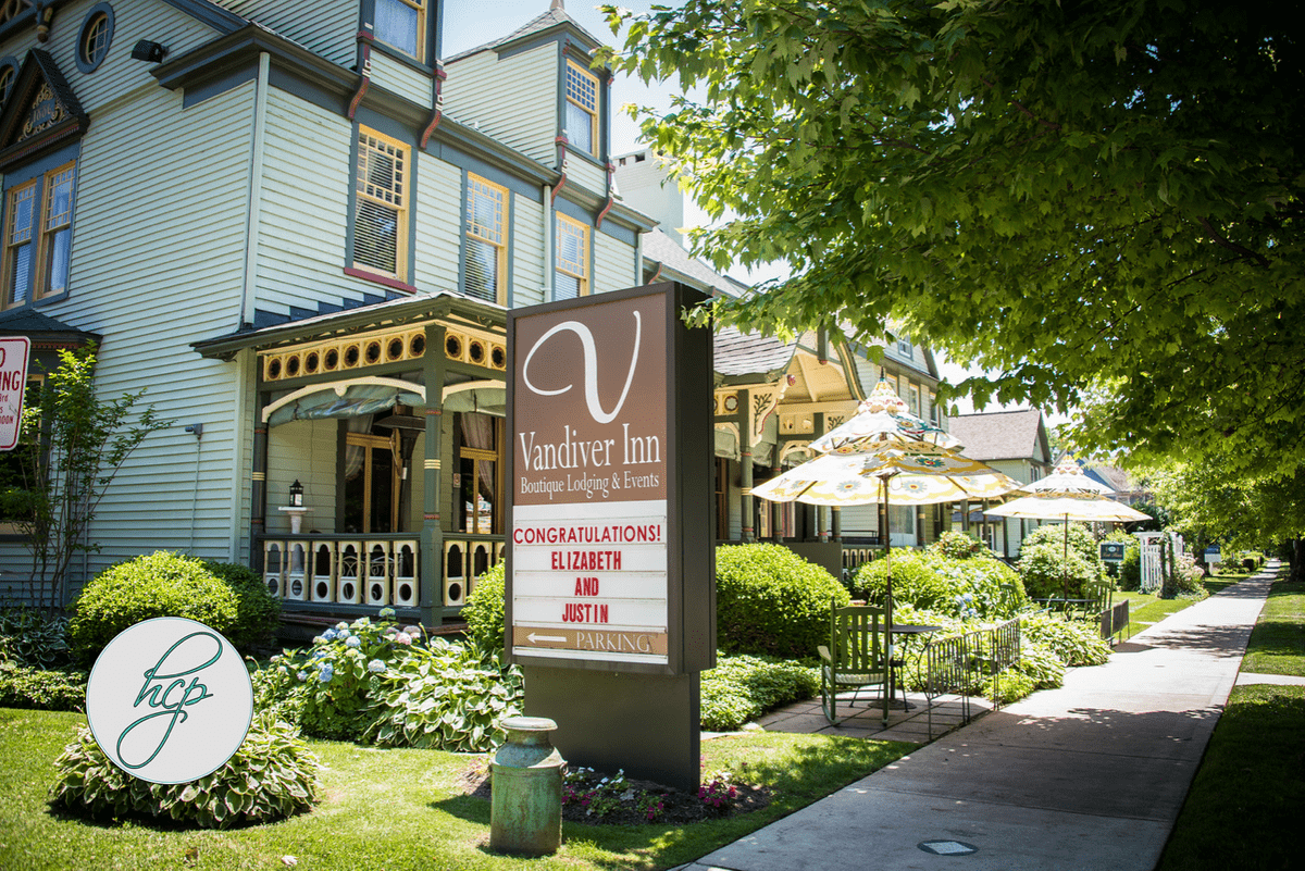 An exterior view of Vandiver Inn. Photography credit: High Contrast Photography