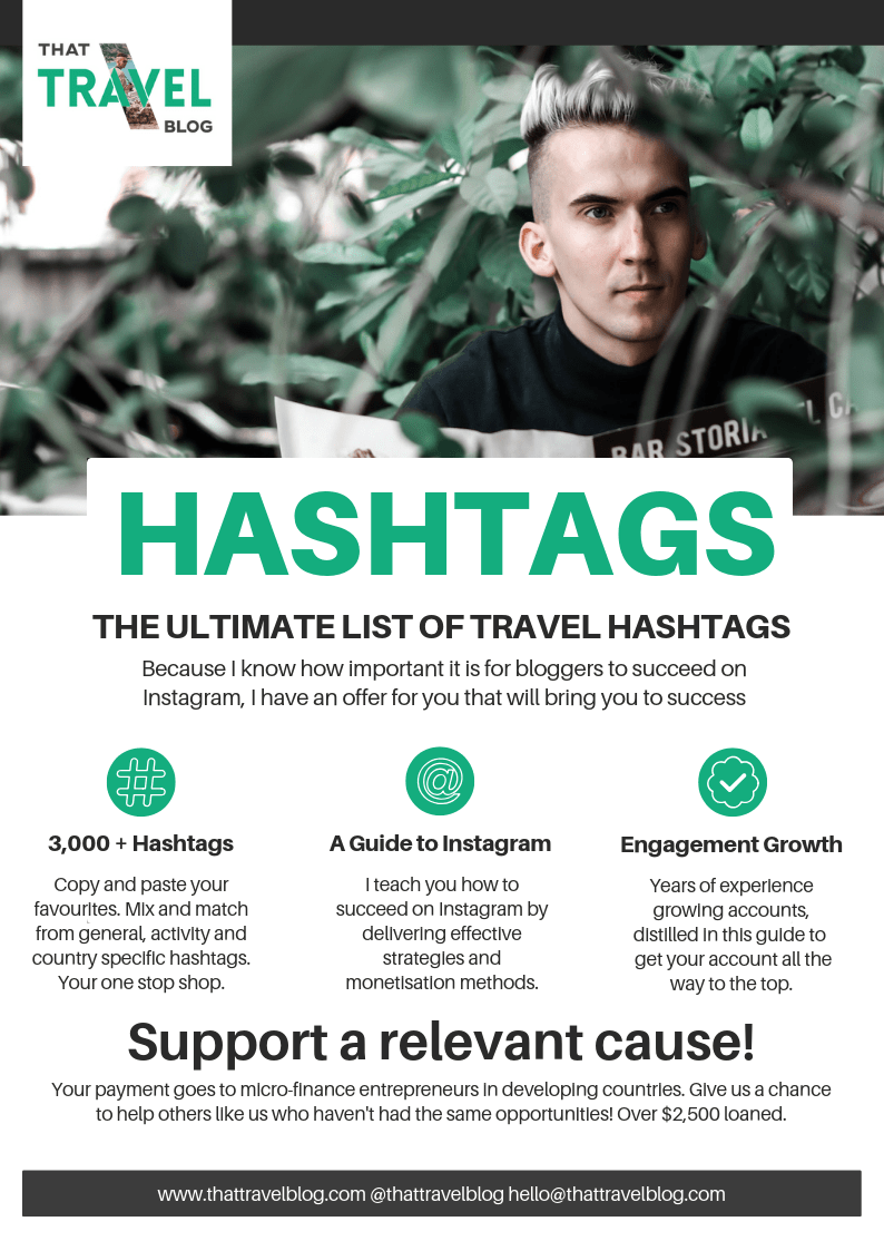 The Ultimate List of 3,000+ Instagram Hashtags for Travel Bloggers!