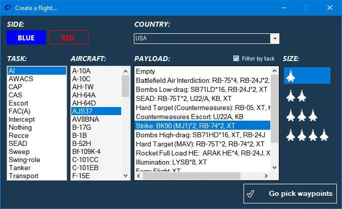 Adding a flight in CombatFlite