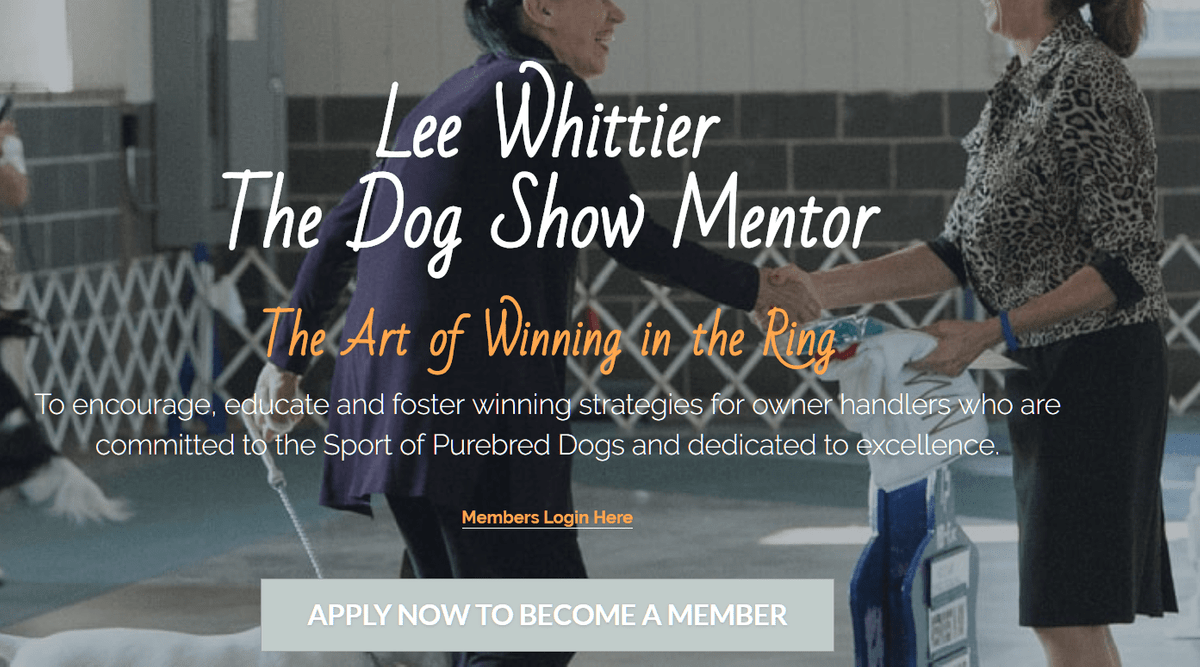 Lee Whittier, Dog Show Mentor