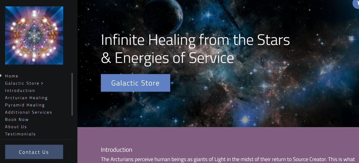 Infinite healing from the stars - Viviane Chauvet