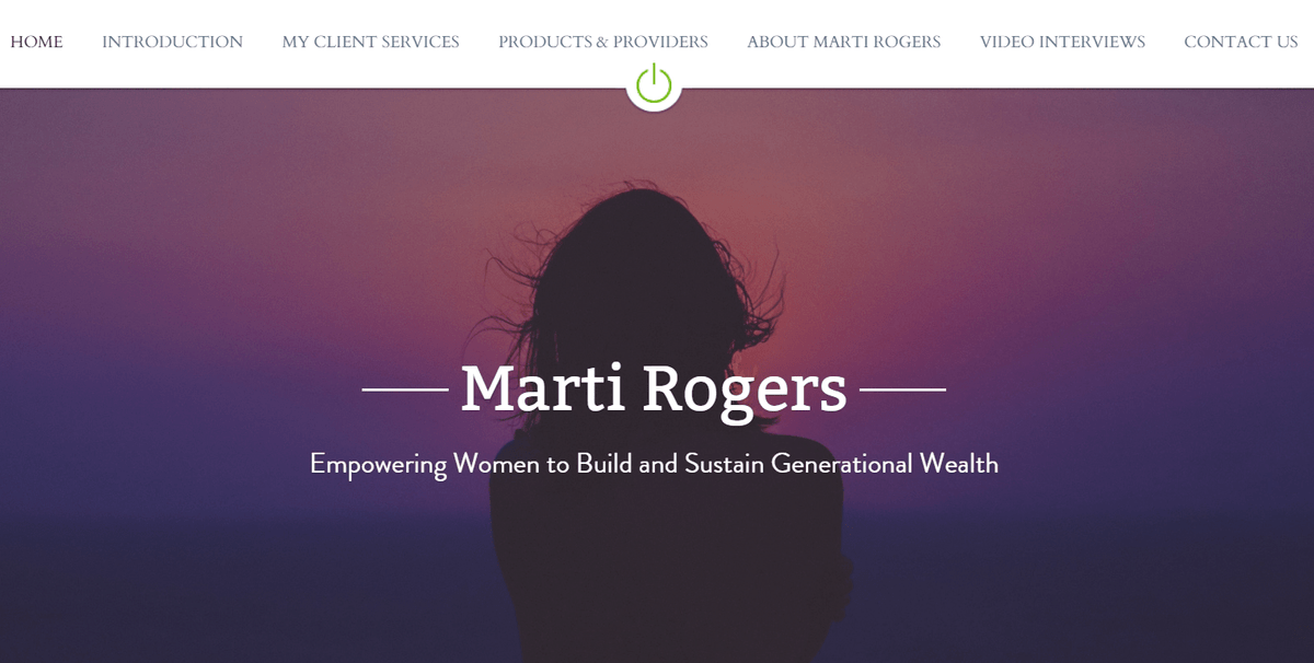 Marti Rogers, Financial Planning for Women