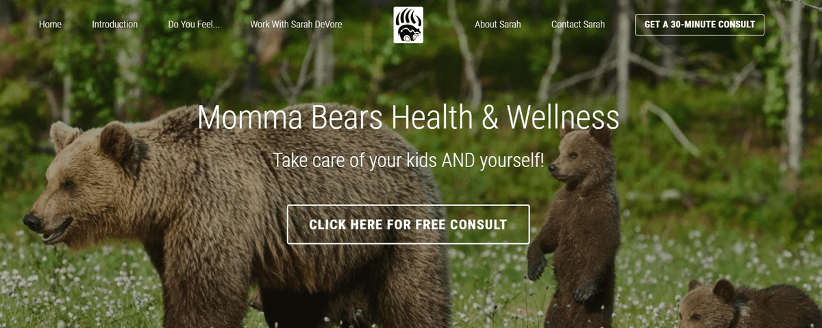 Momma Bears Health and Wellness, Sarah DeVore