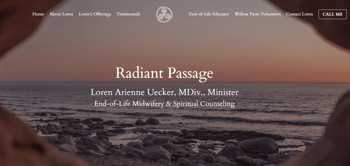 Radiant Passage, Loren Arienne Uecker, End-of-life midwifery
