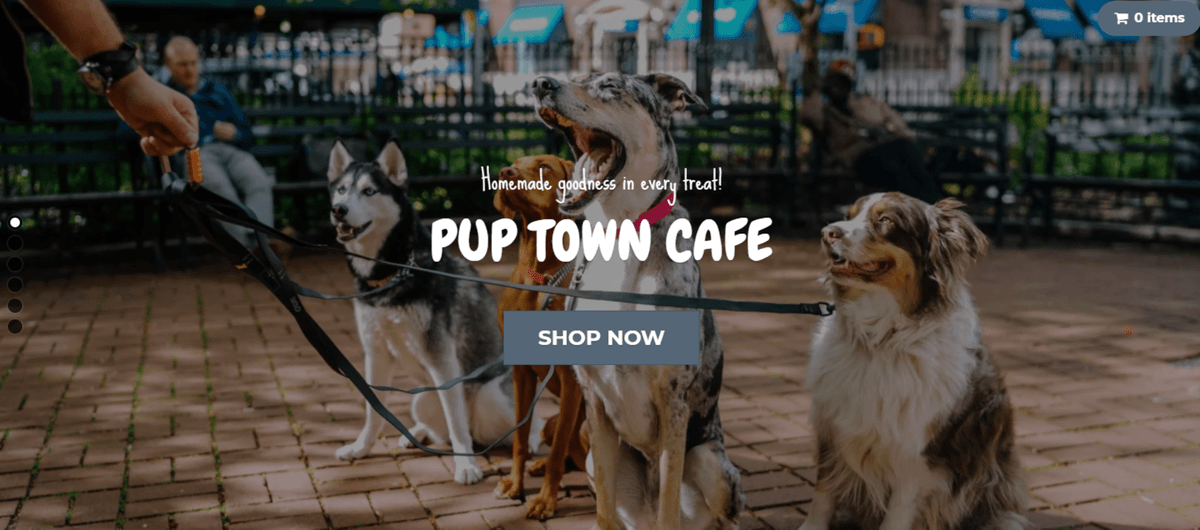 Pup Town Cafe, Dawn Martin, Home made natural doggie treats
