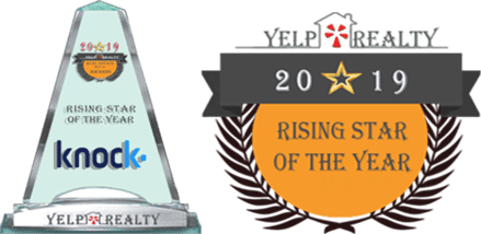 knock.com awarded 2019 Rising Star trophy from yelprealty.com
