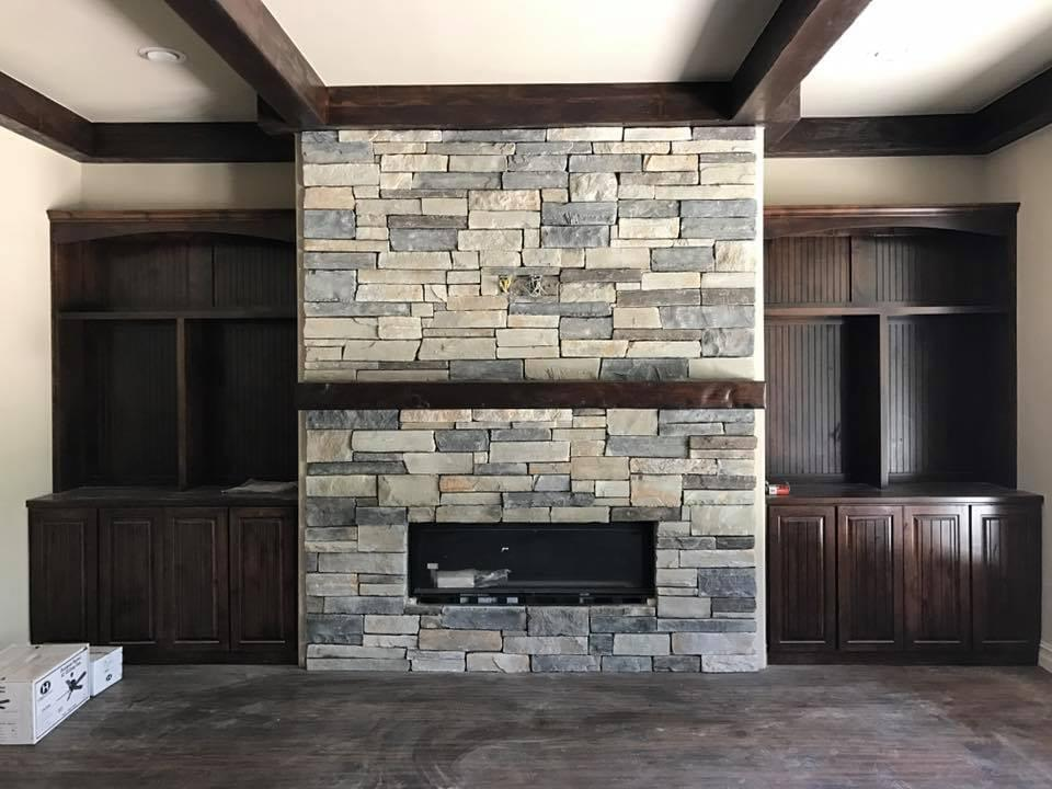 Moody Custom Homes I Stone Fireplace Ideas I Home Remodeling I Tulsa Oklahoma