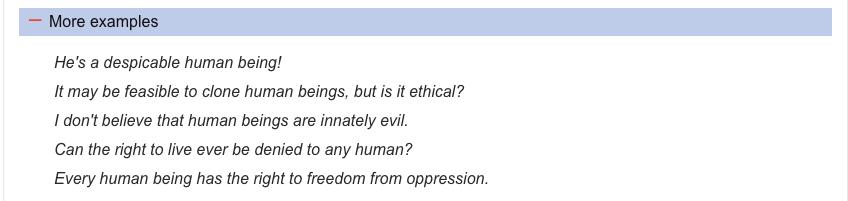 Cách dùng HUMAN và HUMANS