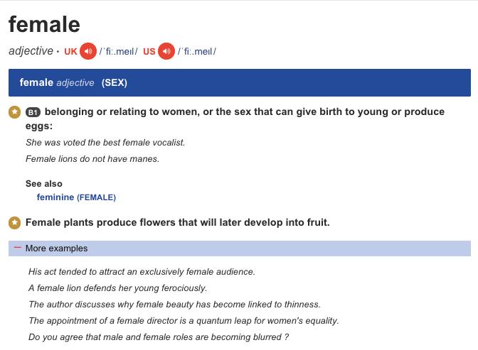 Phân biệt cách dùng FEMALE và FEMALES