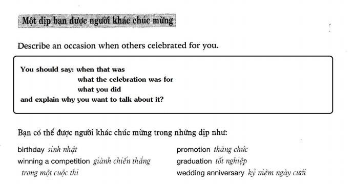 Describe an occasion when others celebrated for you