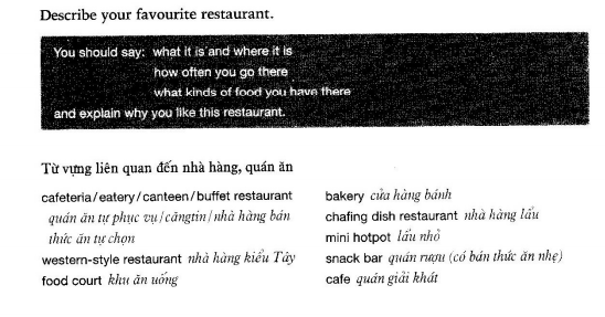 Describe a favorite restaurant