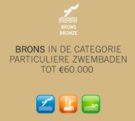 Brons in de categorie particuliere zwembaden