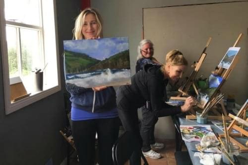 First timer Jen at Dingle Art School