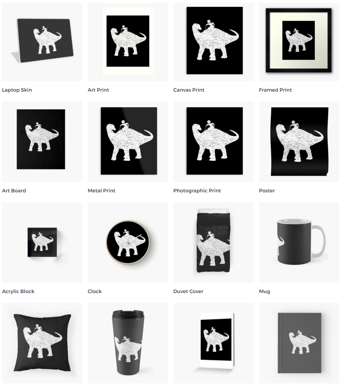 Many more options with custom colors available at Redbubble!
