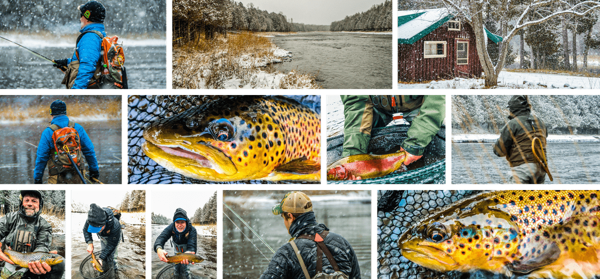 upper peninsula fly fishing in the winter