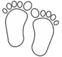 Carbon diet footprint logo