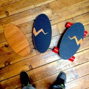 Eggboard was born after several iterations cutting bamboo wood into a skateboard deck that supports longboard wheels