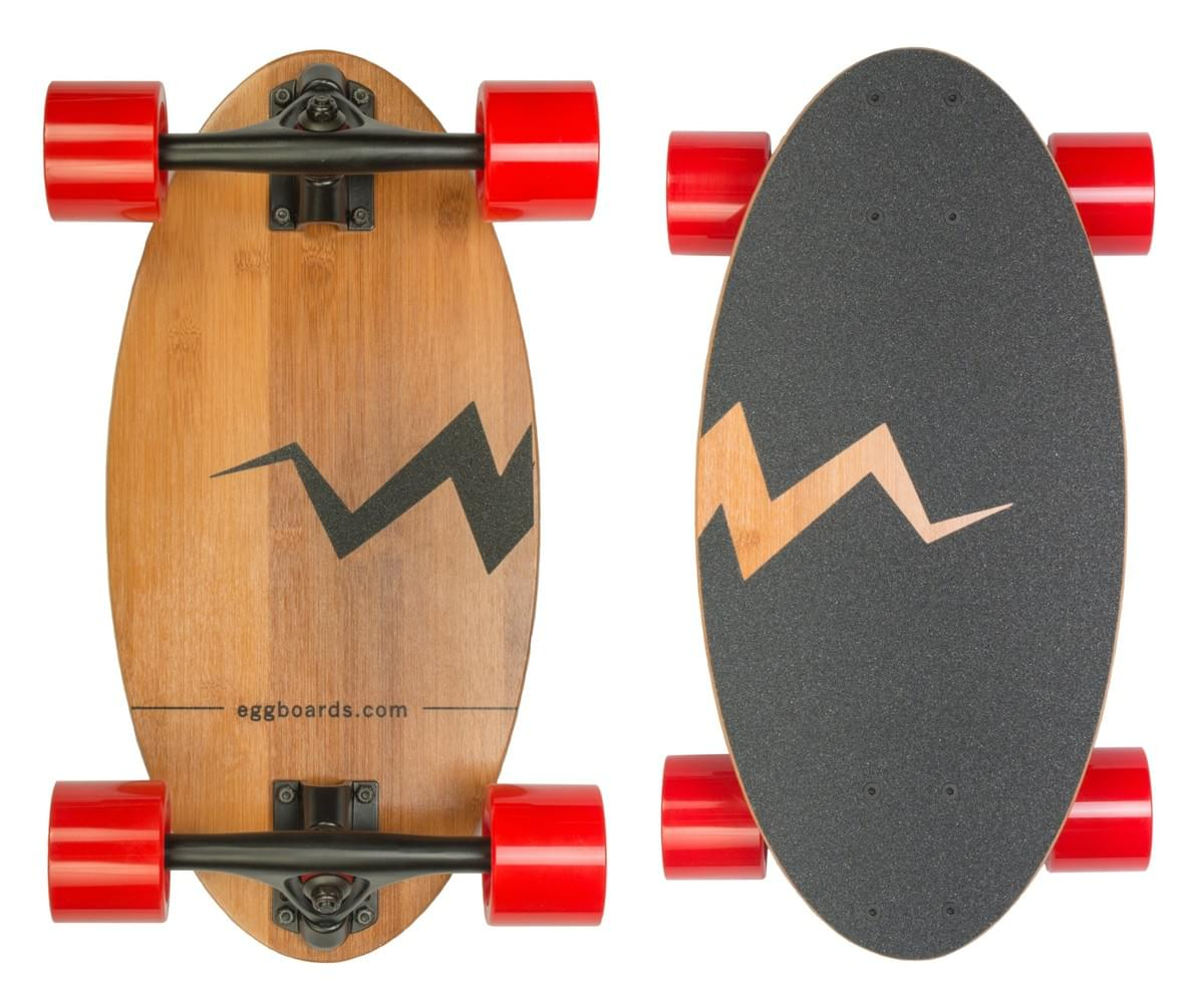 The Egg from Eggboards. A mini skateboard that rides like a longboard