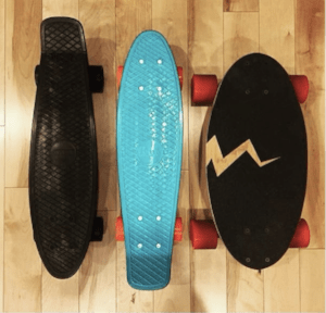 Eggboards are small as penny skateboards but more stable and smooth to ride
