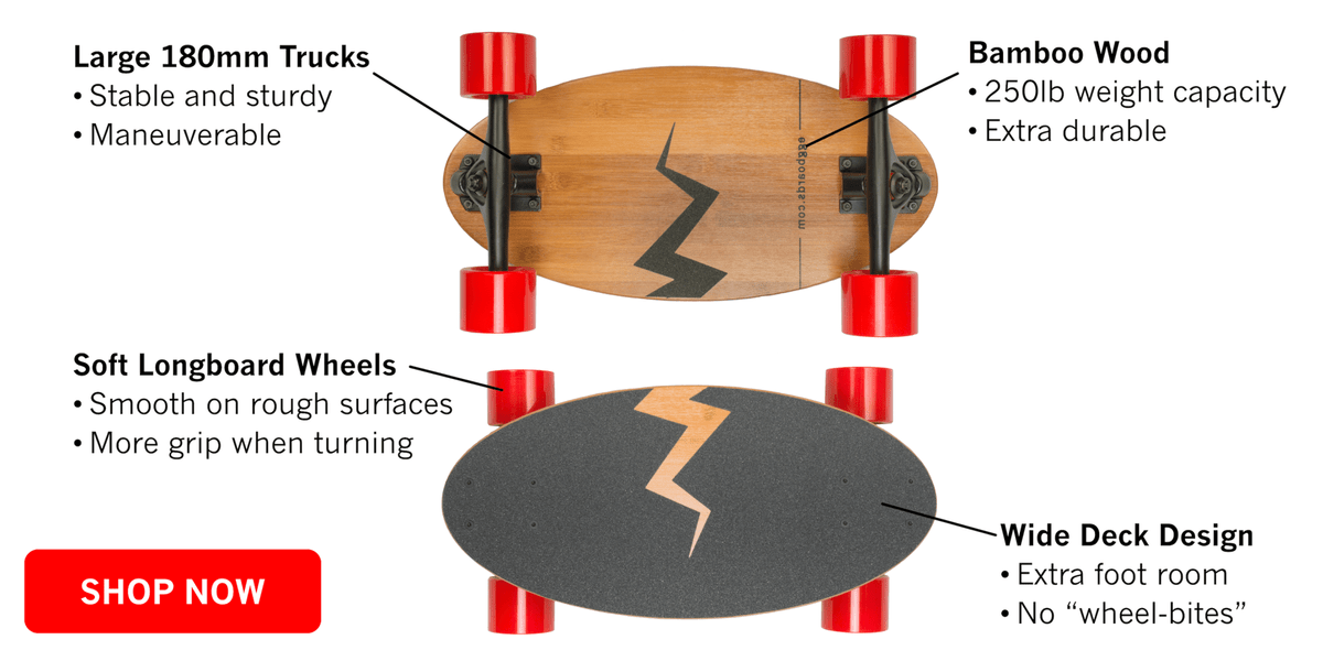 technical skateboard specification of eggboard mini longboard cruiser model