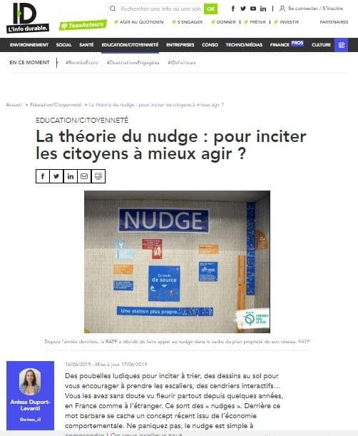 Illustration de l'article Info Durable sur le nudge et les stickers pour toilettes