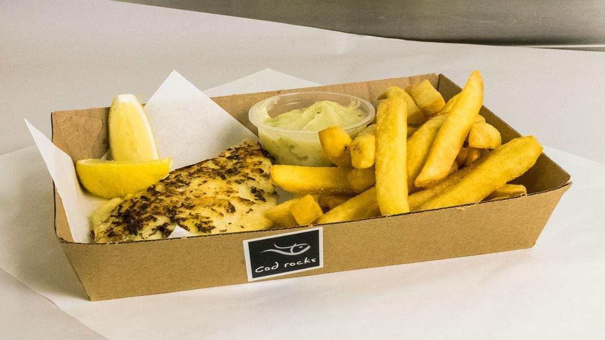Cod Rocks Grilled Fish and Chips