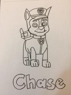 chase from paw patrol: free colouring pages for kids