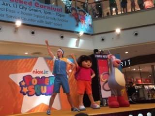 power squad 'live' on stage at city square mall