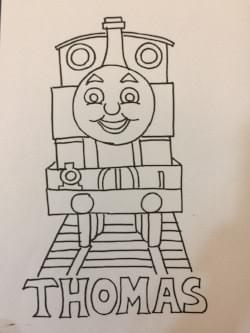 thomas: free colouring pages for kids