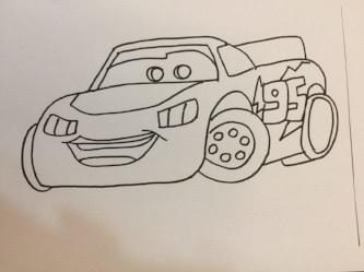 lightning mcqueen: free colouring pages for kids