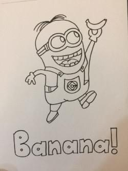 minion: free colouring pages for kids