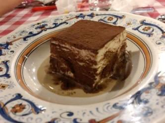 tiramisu at Pete's Place at Grand Hyatt Hotel