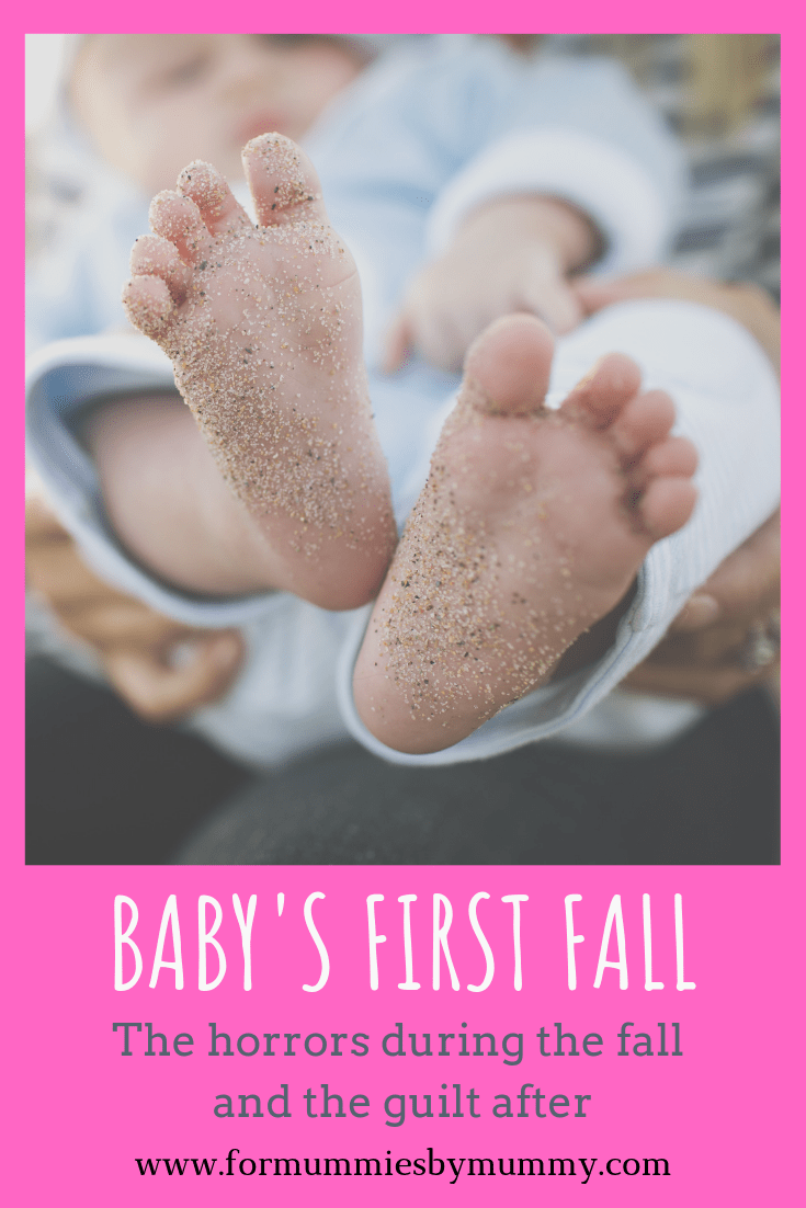 Baby's first fall. The horrors during the fall and the mom guilt after.