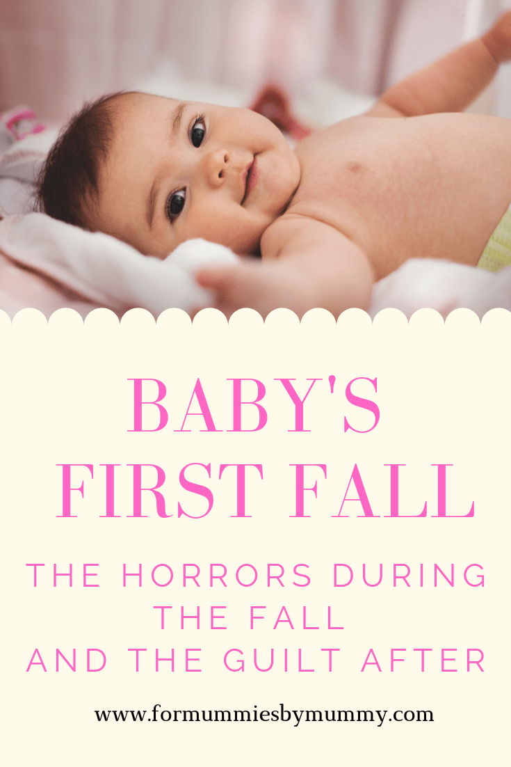 Baby's first fall. The horrors of the fall and the mom guilt after
