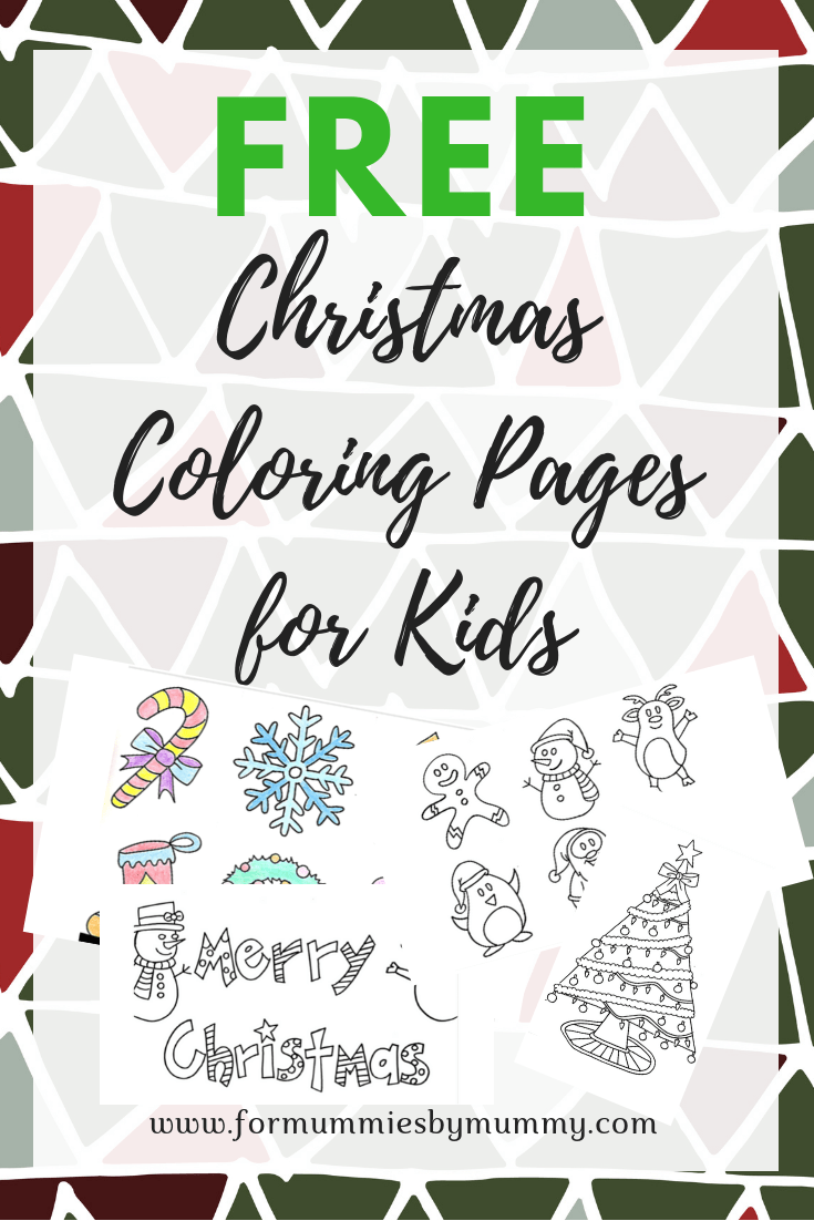 Free Christmas coloring pages for kids. Free printables. Christmas crafts for kids