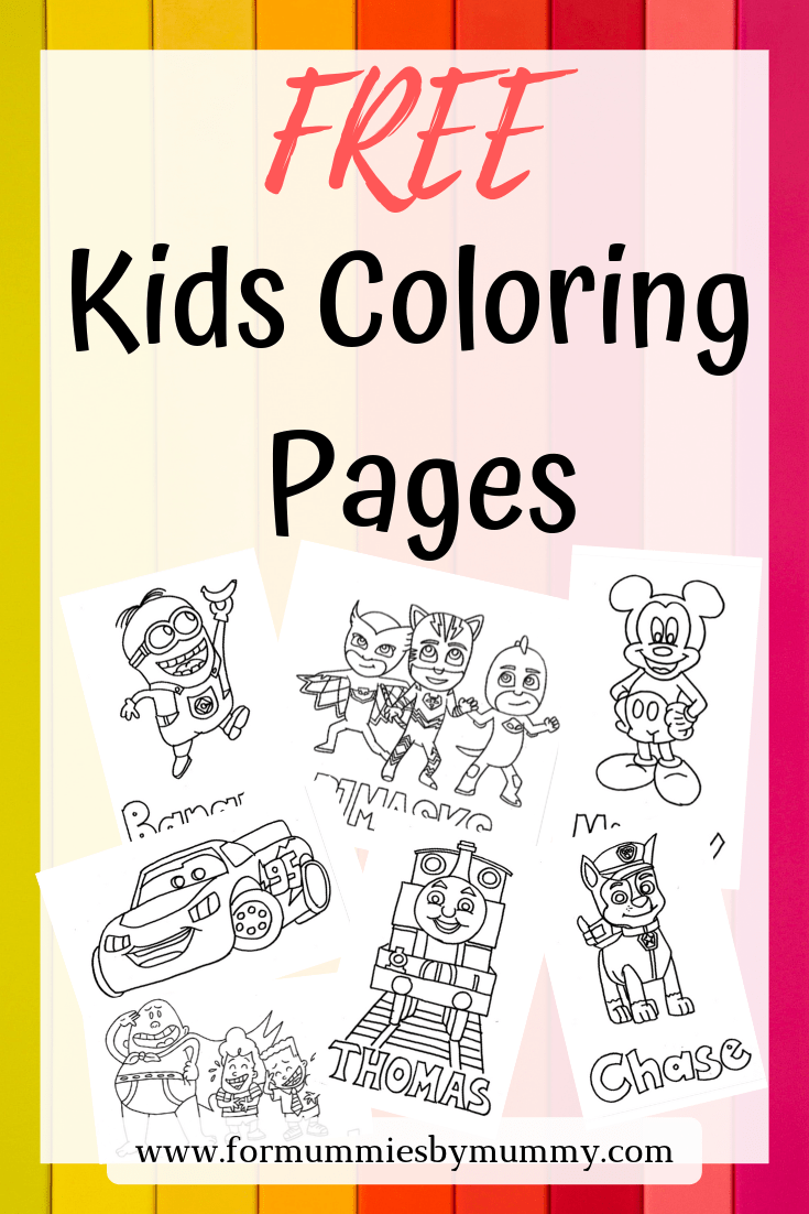 Free kids cartoon coloring pages. Toddler activities. Kids activities. No screen activities