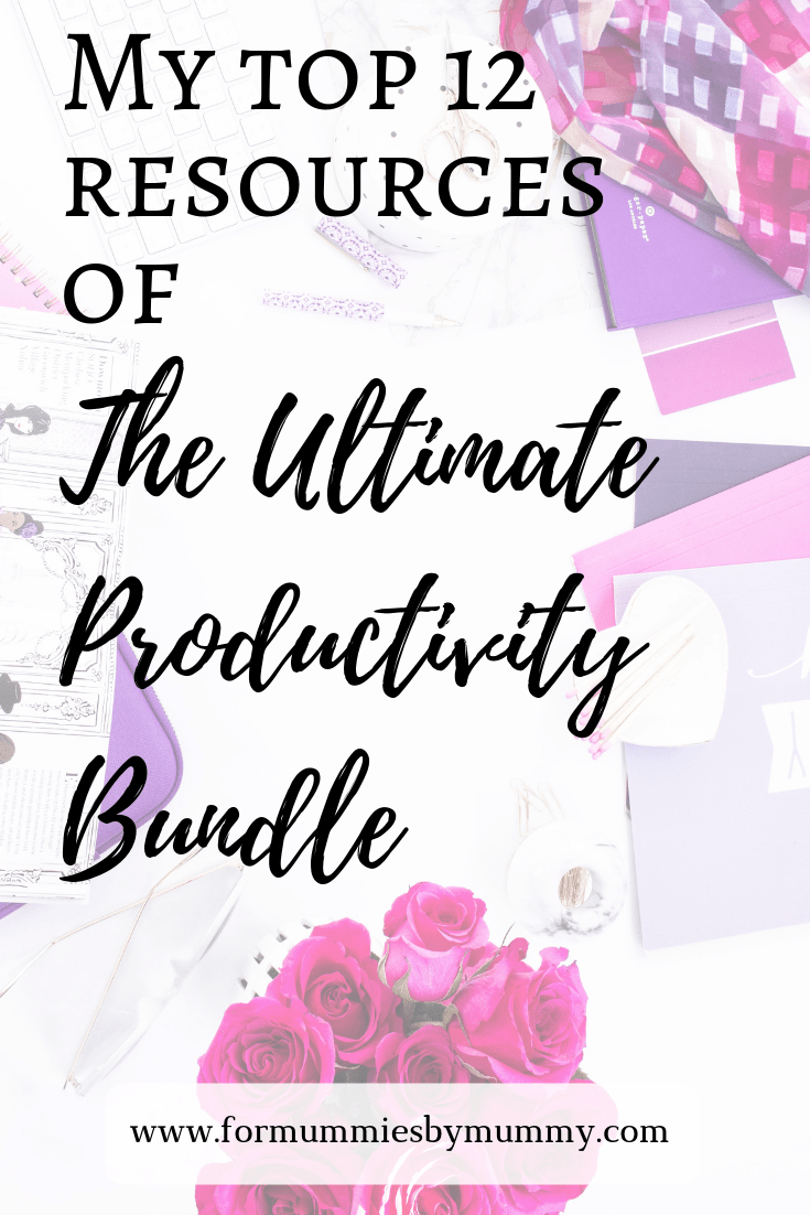 Top 12 resources of the Ultimate Productivity Bundle. #honestreview #productivity #ultimatebundles #busymoms #goalsetting