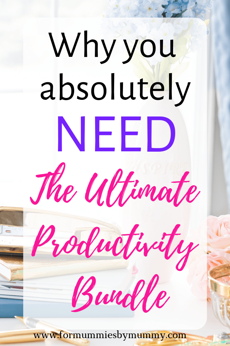 review of the Ultimate Productivity Bundle. Time management for busy moms. #planners #printables #ebooks #ecourses #productivity