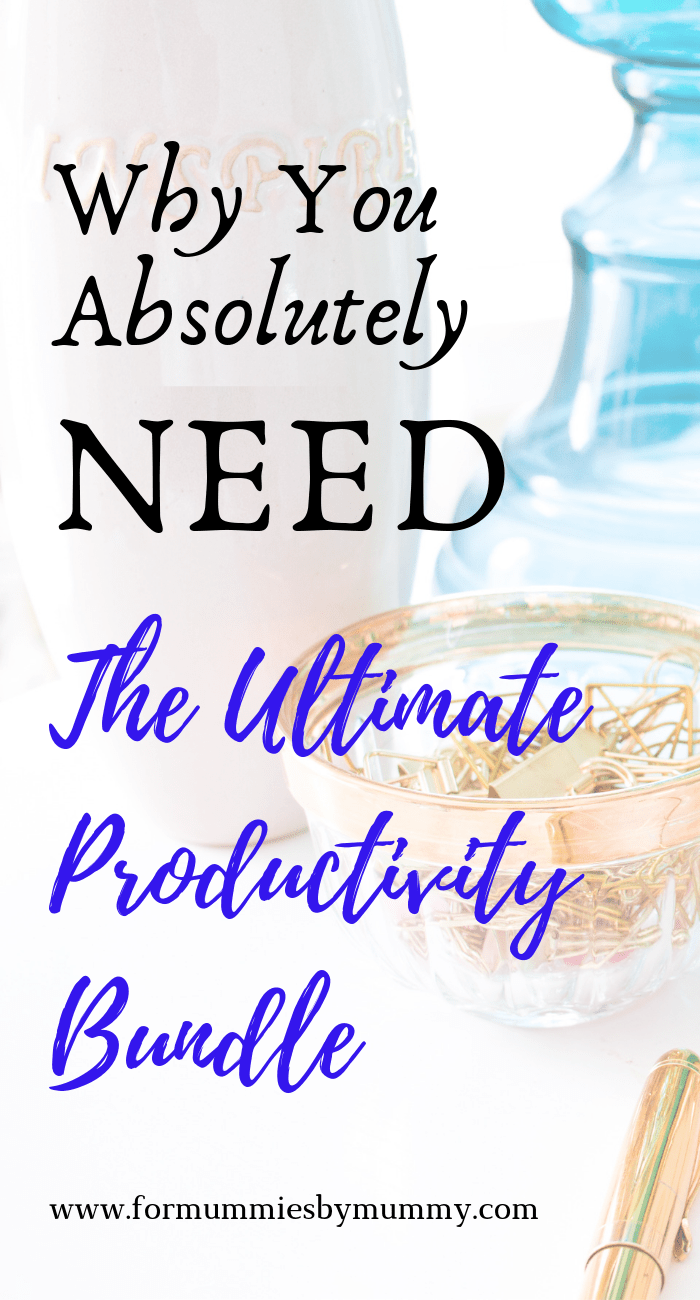 An honest review of my favorite 12 resources in the Ultimate Productivity Bundle #ultimatebundles #busymoms #momplanners #crushyourgoals #ecourses