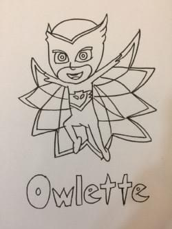 owlette from pj masks: free colouring pages for kids