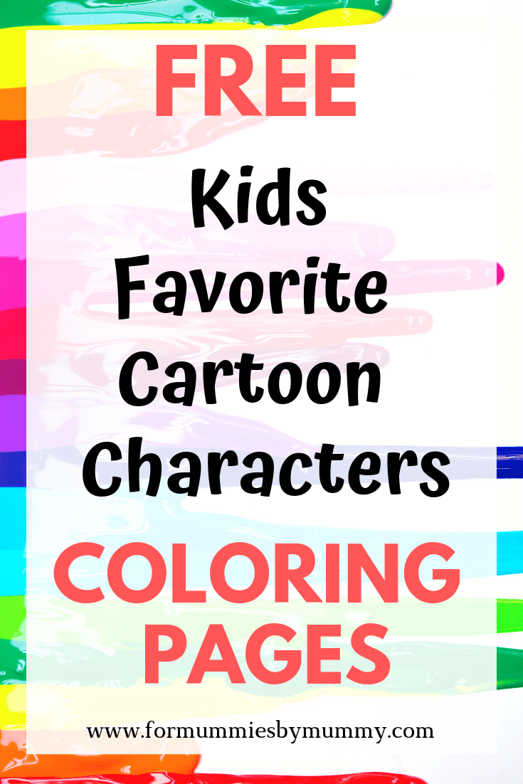 Free kids favorite cartoon characters coloring pages