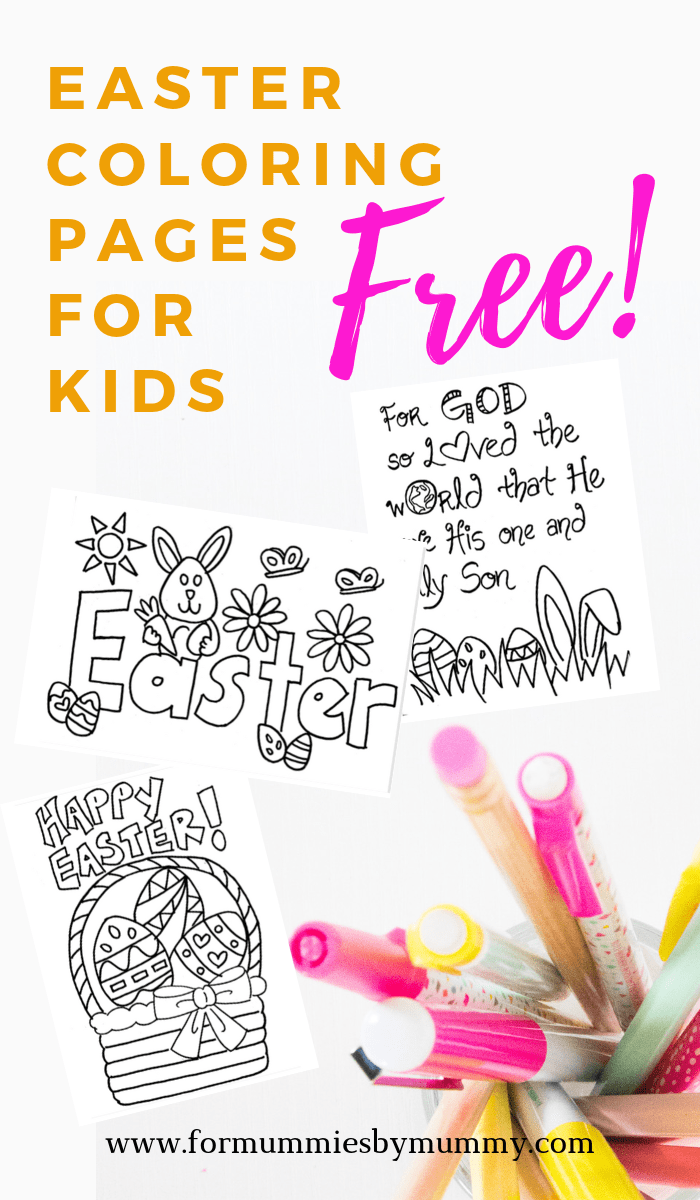 Free printable Easter coloring pages for kids. #easter #coloring #freeprintables #printablesforkids #toddlers #preschoolers