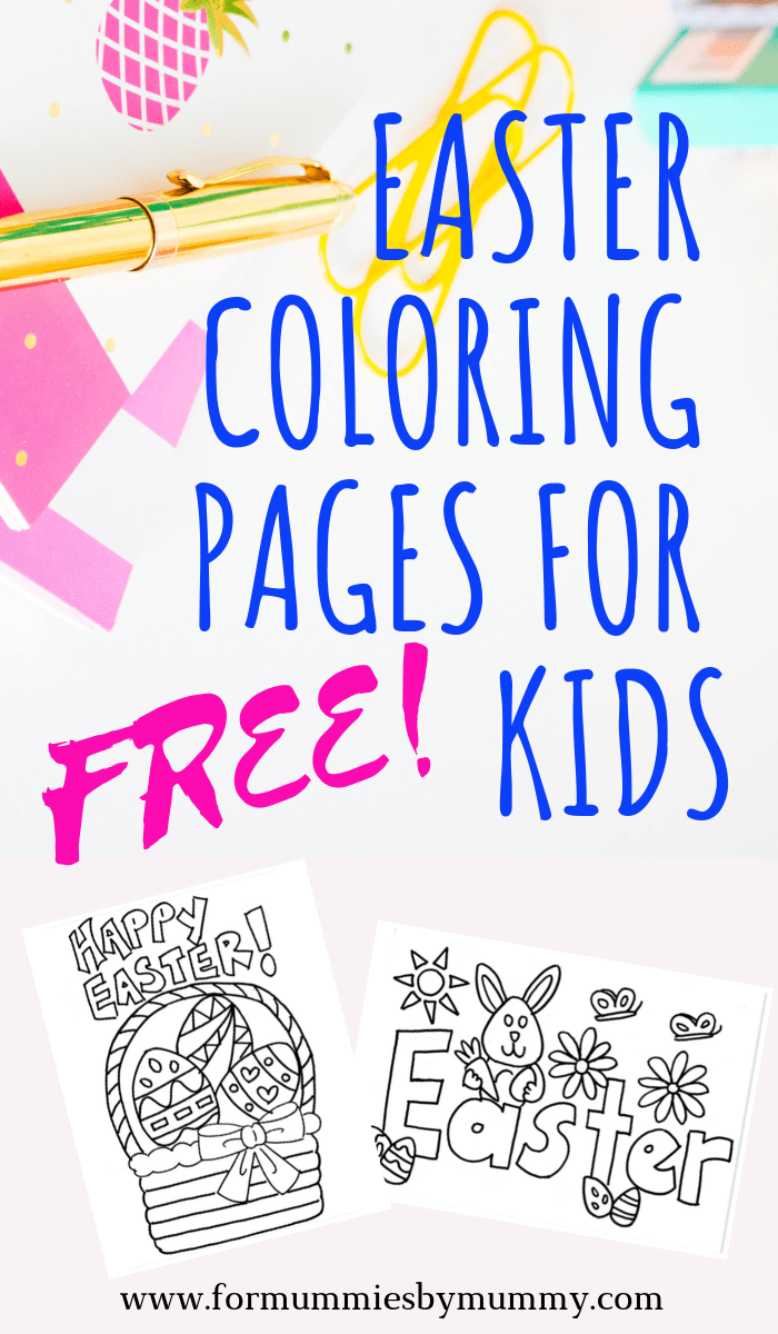 Free printable Easter coloring pages for kids. #easter #coloring #freeprintables #kidsactivities #toddlers #preschool