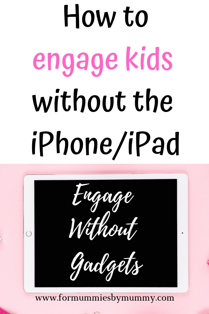 How to engage kids without using iphone/ipad. kids activities. toddler activities. Preschool activities. Less screen time
