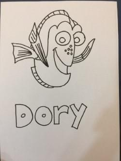 dory: free colouring pages for kids
