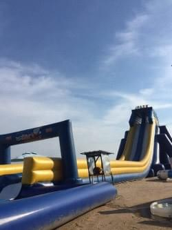 giant inflatable slide at lexis hibiscus
