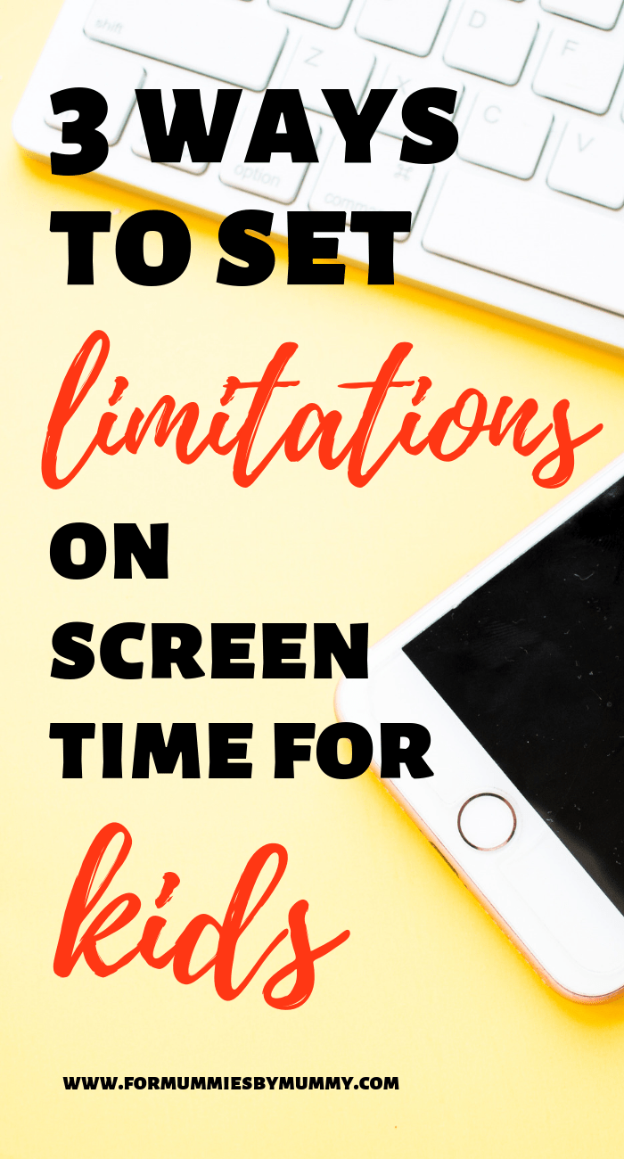 3 limitations to set for your kids when having screen time #parentingtips #screentime #toddlers #kidsactivities