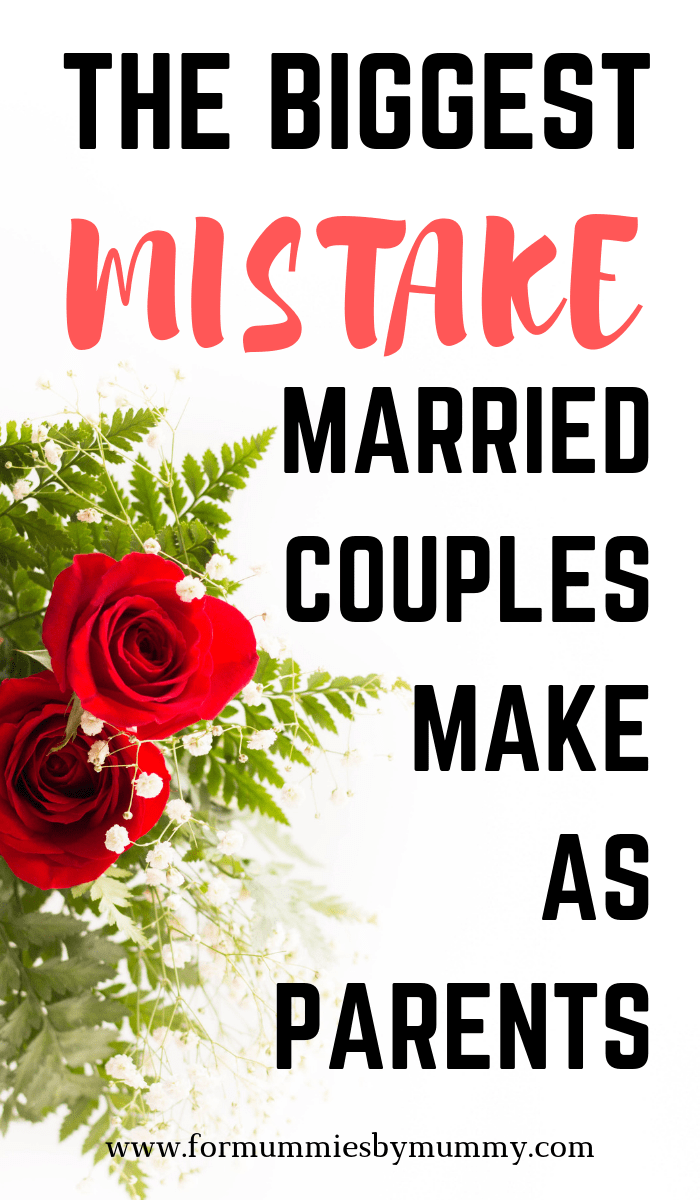 The key to a happy marriage. The biggest mistake married couples make as parents. #happymarriage #marriagetips #momlife #christianmom #happyfamily